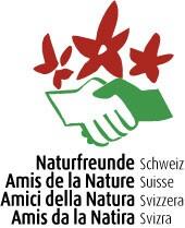 4-sprachiges Logo der Naturfreunde Schweiz